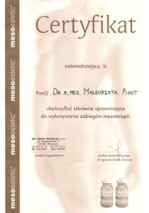 certyfikat-mezoterapia